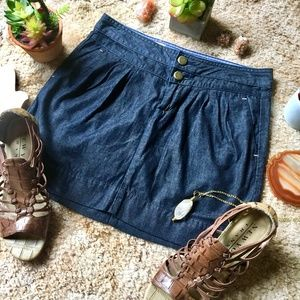 {Gap 1969 Jeans} Classic Dark Denim Mini Skirt,